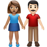 Woman and Man Holding Hands: Medium Skin Tone, Light Skin Tone on Apple iOS 13.2