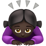 Woman Bowing: Dark Skin Tone on Apple iOS 13.2