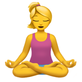 Woman in Lotus Position on Apple iOS 13.2