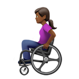 Woman in Manual Wheelchair: Medium-Dark Skin Tone on Apple iOS 13.2