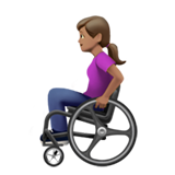 Woman in Manual Wheelchair: Medium Skin Tone on Apple iOS 13.2