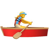Woman Rowing Boat on Apple iOS 13.2