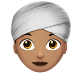 Woman Wearing Turban: Medium Skin Tone on Apple iOS 13.2