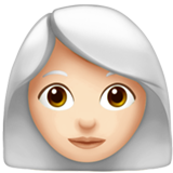 Woman: Light Skin Tone, White Hair on Apple iOS 13.2