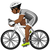 Person Biking: Medium-Dark Skin Tone on Apple iOS 13.3