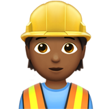 Construction Worker: Medium-Dark Skin Tone on Apple iOS 13.3