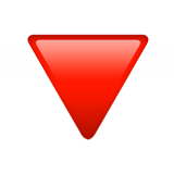 Red Triangle Pointed Down on Apple iOS 13.3