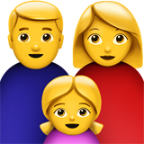 Family: Man, Woman, Girl on Apple iOS 13.3