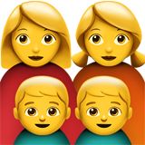 Family: Woman, Woman, Boy, Boy on Apple iOS 13.3