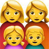 Family: Woman, Woman, Girl, Boy on Apple iOS 13.3