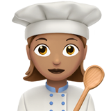 Woman Cook: Medium Skin Tone on Apple iOS 13.3