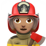 Woman Firefighter: Medium Skin Tone on Apple iOS 13.3