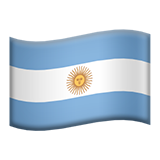 Flag: Argentina on Apple iOS 13.3