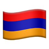 Flag: Armenia on Apple iOS 13.3