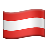 Flag: Austria on Apple iOS 13.3