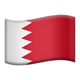 Flag: Bahrain on Apple iOS 13.3
