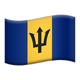 Flag: Barbados on Apple iOS 13.3