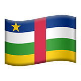 Flag: Central African Republic on Apple iOS 13.3
