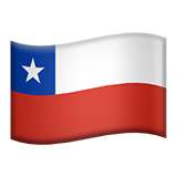 Flag: Chile on Apple iOS 13.3