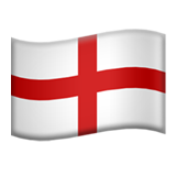 Flag: England on Apple iOS 13.3