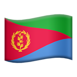 Flag: Eritrea on Apple iOS 13.3