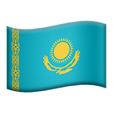 Flag: Kazakhstan on Apple iOS 13.3