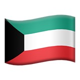 Flag: Kuwait on Apple iOS 13.3