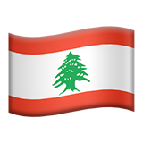 Flag: Lebanon on Apple iOS 13.3