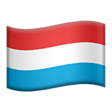 Flag: Luxembourg on Apple iOS 13.3