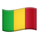 Flag: Mali on Apple iOS 13.3