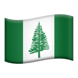Flag: Norfolk Island on Apple iOS 13.3