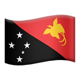 Flag: Papua New Guinea on Apple iOS 13.3
