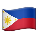 Flag: Philippines on Apple iOS 13.3