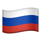 Flag: Russia on Apple iOS 13.3