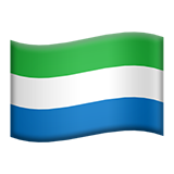 Flag: Sierra Leone on Apple iOS 13.3