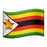 Flag: Zimbabwe on Apple iOS 13.3