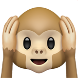 Hear-No-Evil Monkey on Apple iOS 13.3