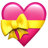 Heart with Ribbon on Apple iOS 13.3