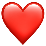 Red Heart Emoji On Apple Ios 13 3