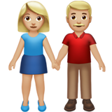 Woman and Man Holding Hands: Medium-Light Skin Tone on Apple iOS 13.3