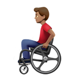 Man in Manual Wheelchair: Medium Skin Tone on Apple iOS 13.3