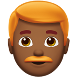 Man: Medium-Dark Skin Tone, Red Hair on Apple iOS 13.3