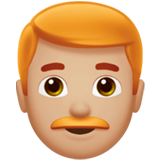 Man: Medium-Light Skin Tone, Red Hair on Apple iOS 13.3