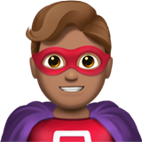 Man Superhero: Medium Skin Tone on Apple iOS 13.3