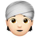 Person Wearing Turban: Light Skin Tone on Apple iOS 13.3