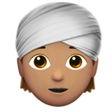 Person Wearing Turban: Medium Skin Tone on Apple iOS 13.3
