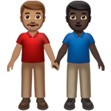 Men Holding Hands: Medium Skin Tone, Dark Skin Tone on Apple iOS 13.3