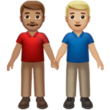 Men Holding Hands: Medium Skin Tone, Medium-Light Skin Tone on Apple iOS 13.3