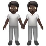 People Holding Hands: Dark Skin Tone on Apple iOS 13.3