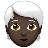 Person: Dark Skin Tone, White Hair on Apple iOS 13.3